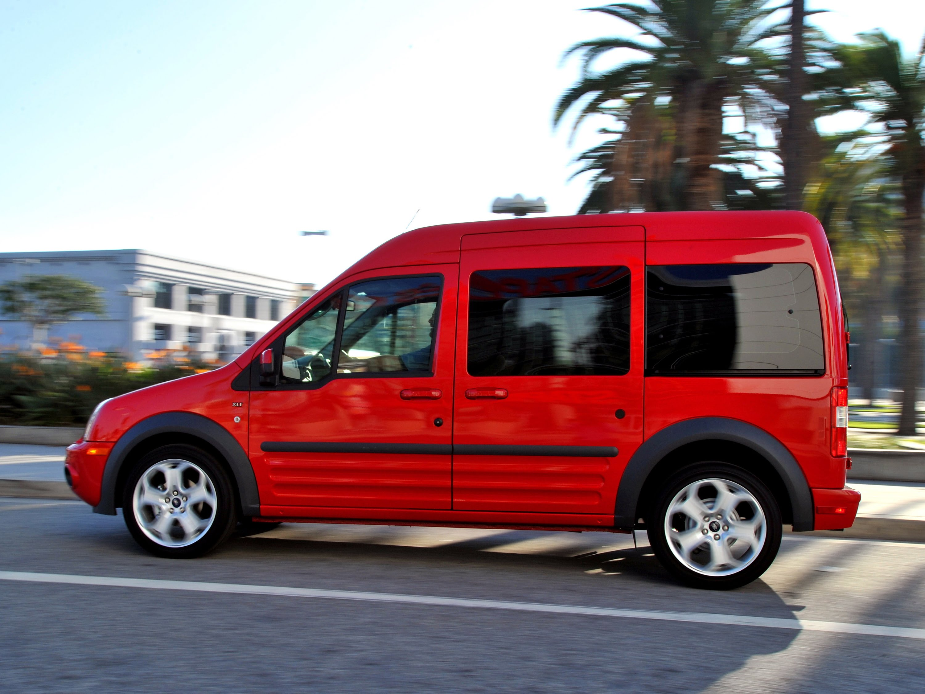 Red 2016 ford transit connect
