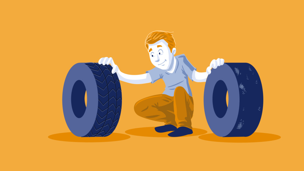 used car tire inspection