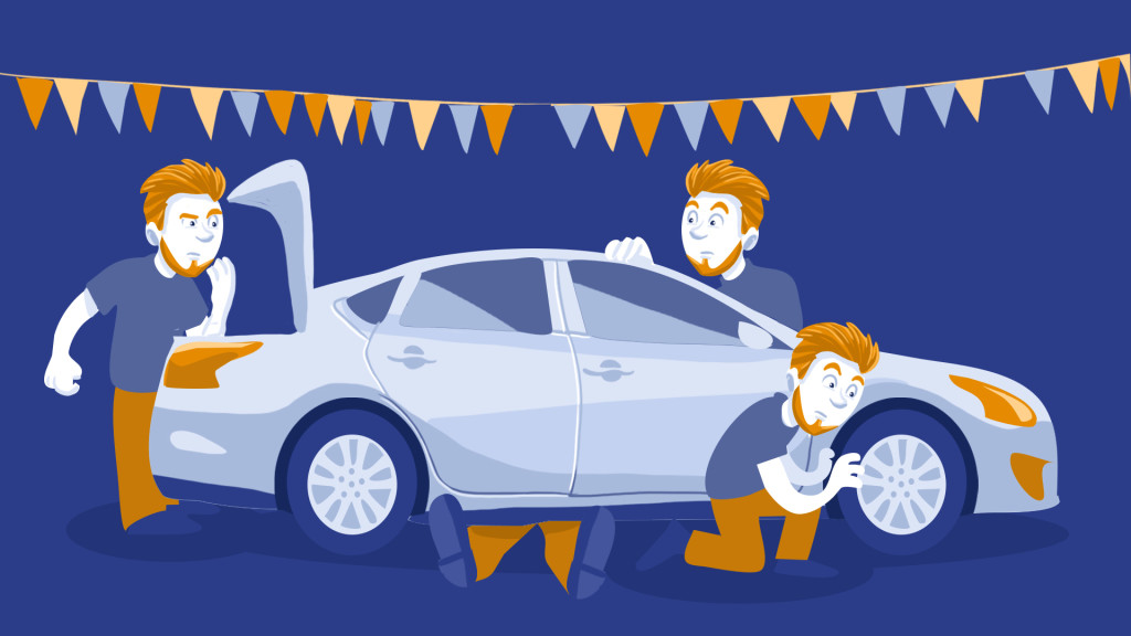 used car initial inspection