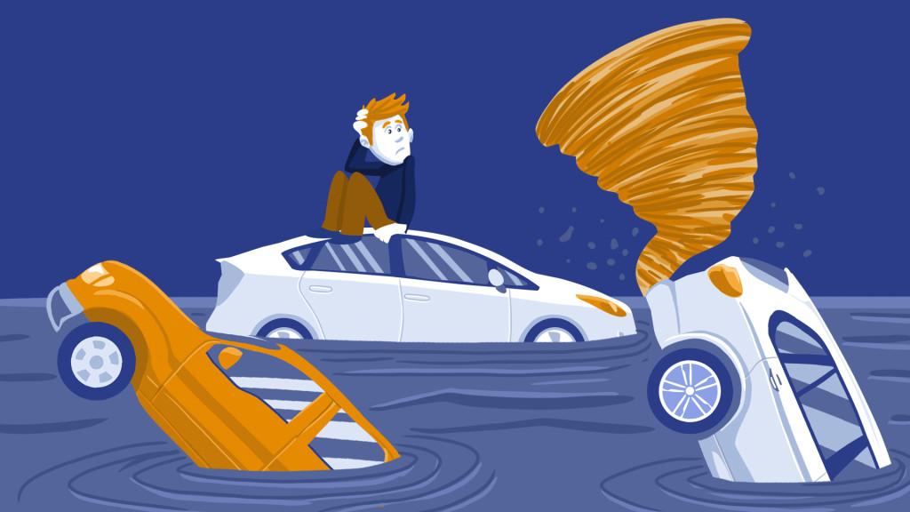 water damaged cars