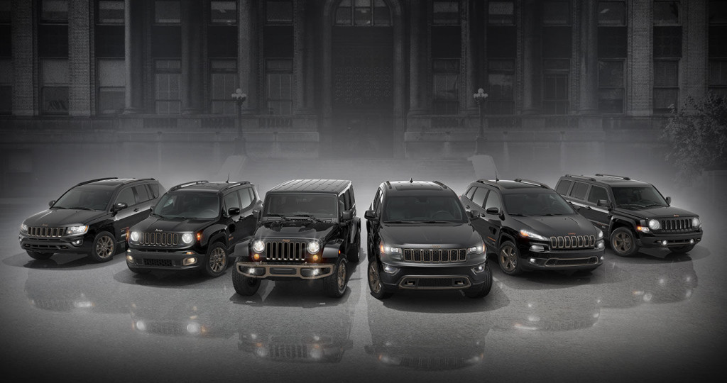 Jeep 75th Anniversary models