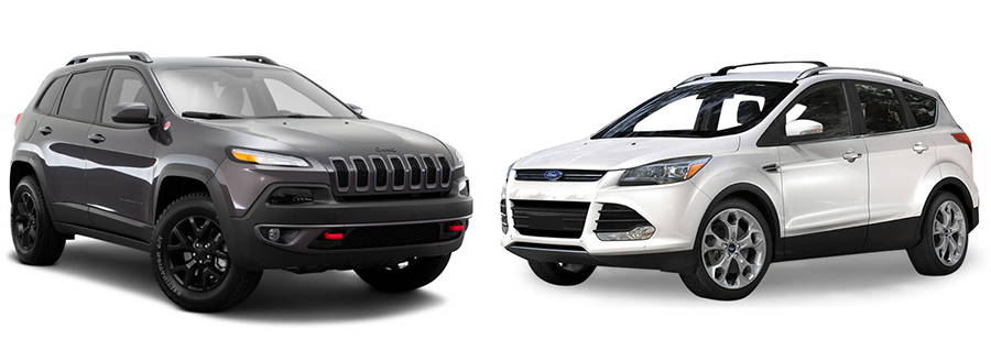 suv comparison jeep cherokee  ford escape aventura chrysler jeep dodge ram