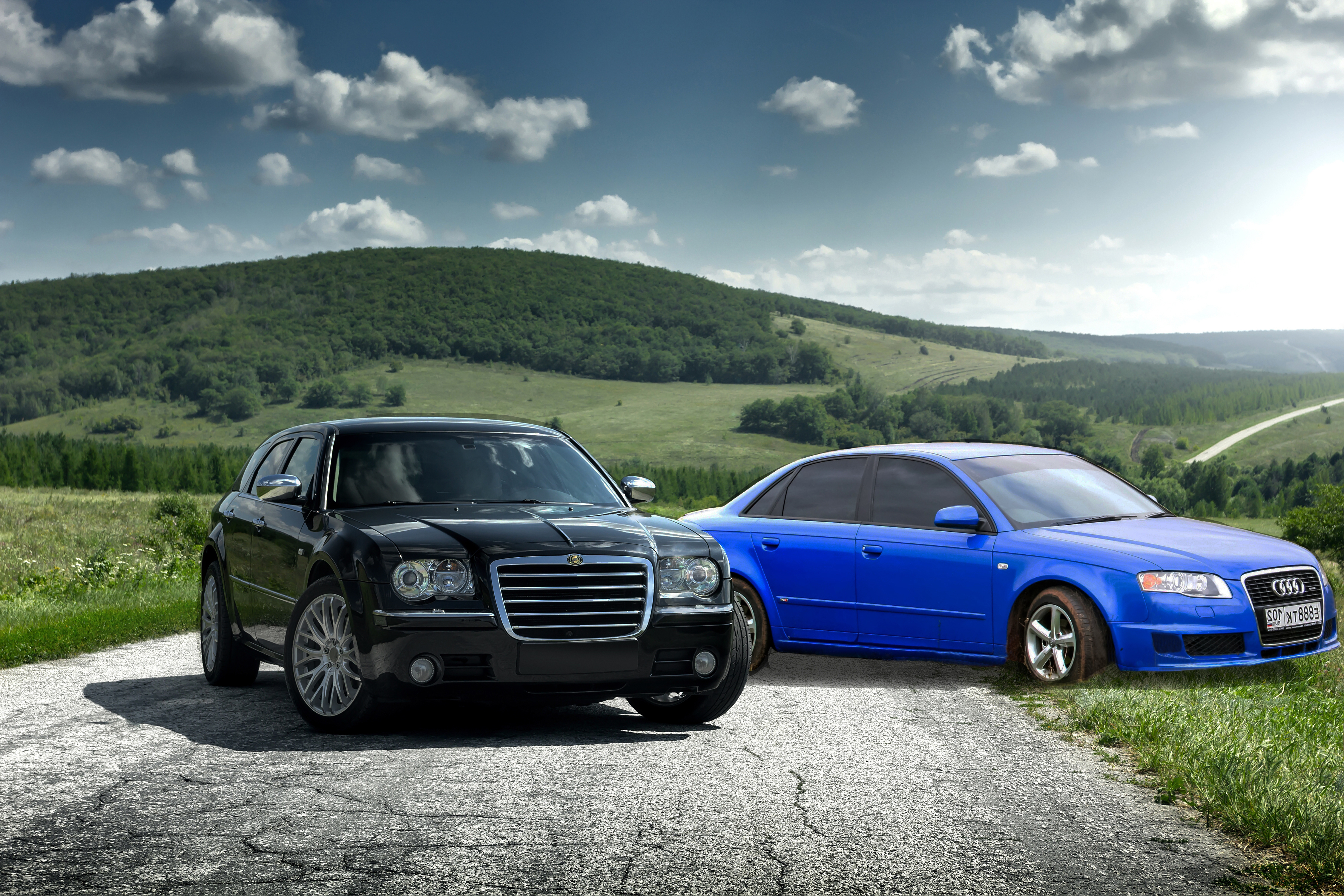 car comparison chrysler 300 vs audi a4 aventura. Black Bedroom Furniture Sets. Home Design Ideas