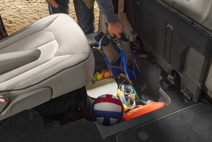 New Pacifica storage options and stow 'n go seating