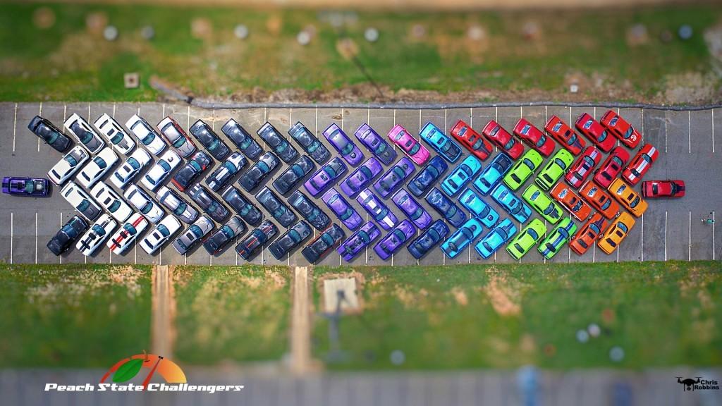 Peach State Challengers Dodge Challenger Rainbow