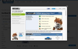 carfax screenshot of beachauto