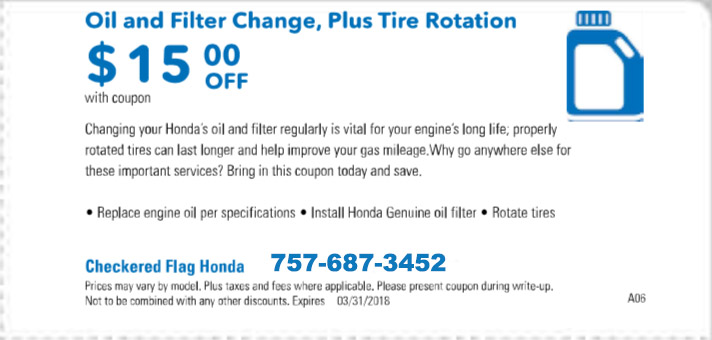 $15 OFF Oil Change and Tire Rotation