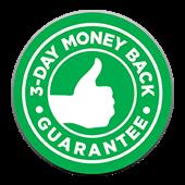 3-Day Money Back Guarantee