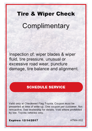 Complimentary Tire & Wiper Check