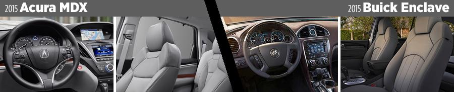 2015-Acura-MDX-vs-2015-Buick-Enclave-interior