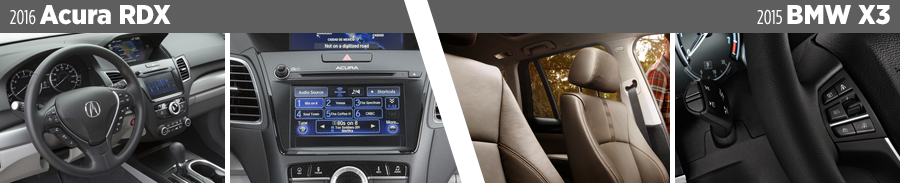 2016-acura-rdx-vs-2015-bmw-x3-interior