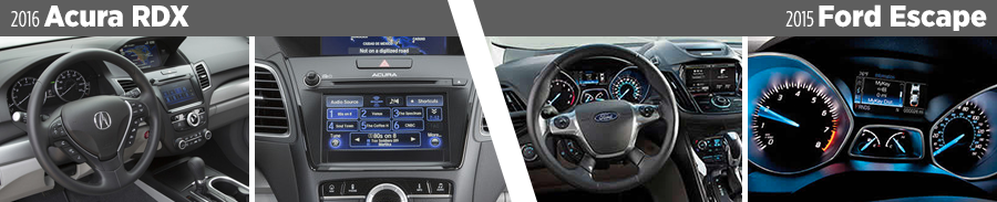2016-acura-rdx-vs-2015-ford-escape-interior