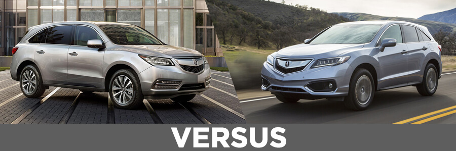 2016 Acura MDX VS 2016 Acura RDX Model Comparison