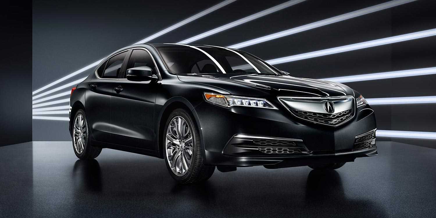 2016 Acura TLX black exterior up close