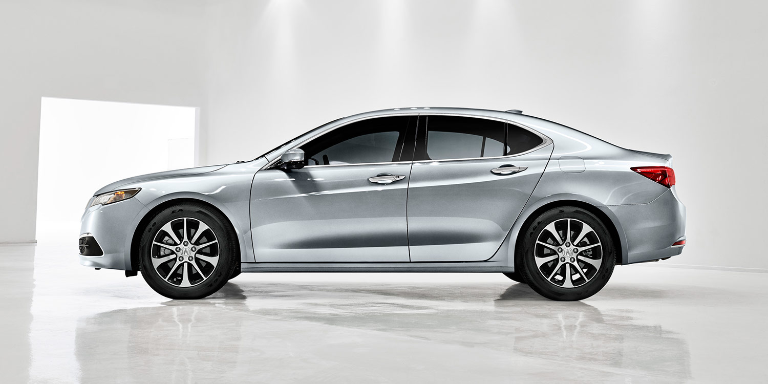 sleek 2016 Acura TLX on display