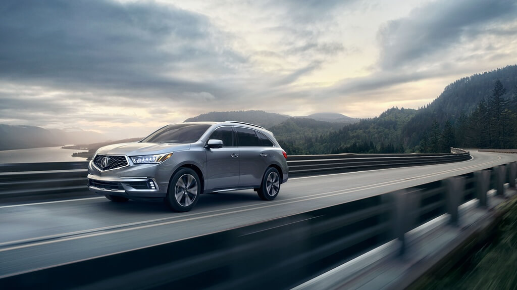 2017 Acura MDX on road