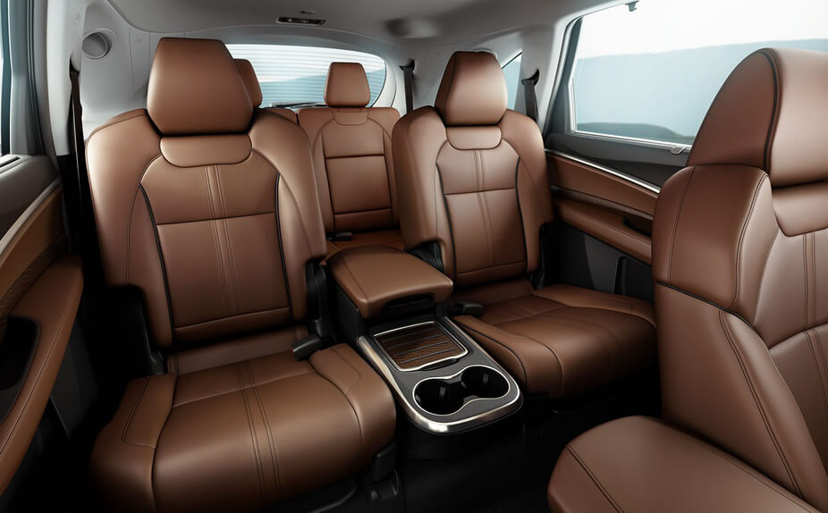 2017 MDX interior rear seating