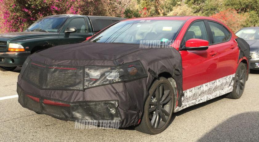Motor Trend Spy Shot Acura TLX Updates