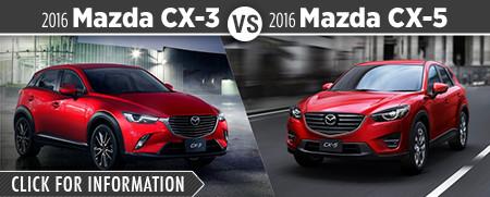 2016 Mazda CX3 vs 2016 Mazda CX5