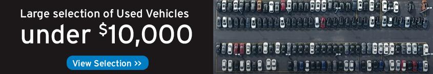 Used Vehicles Under 10K Banner