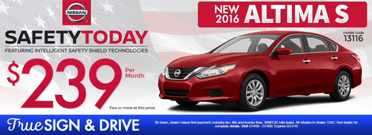 Nissan Altima Lease >> New Nissan Altima Lease Special Mn 2016