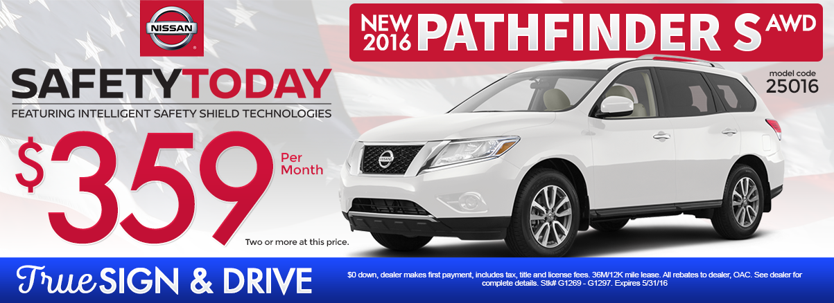 New 2016 Nissan Pathfinder Lease Special MN
