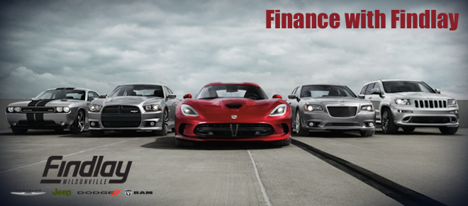 Finance with Findlay Wilsonville CJDR today to secure the car of your dreams.