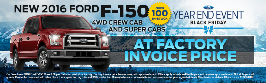2016 Ford F-150 4wd Crew Cab And Super Cabs
