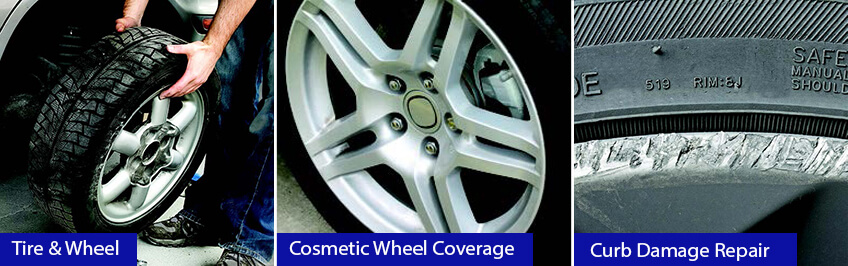 Wheel and tire protection - cosmetic wheel coverage - curb damage repair