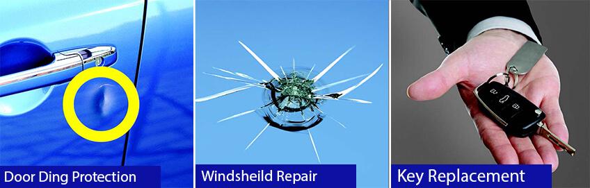 Door ding protection - windsheild repair - key replacement