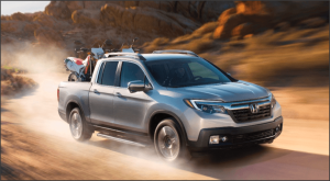 2017 Honda Ridgeline dusty