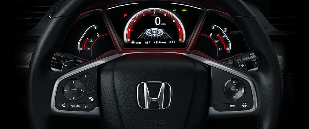 2017 Honda Civic Hatch Steering Wheel