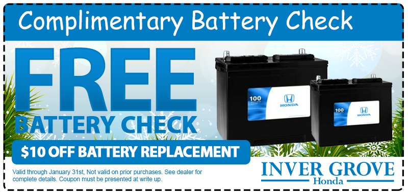Honda coupons battery