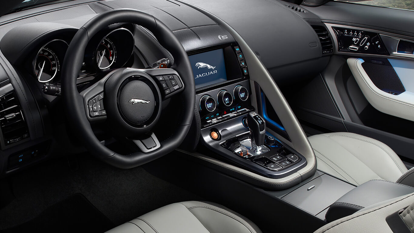 2017 Jaguar F-TYPE center console