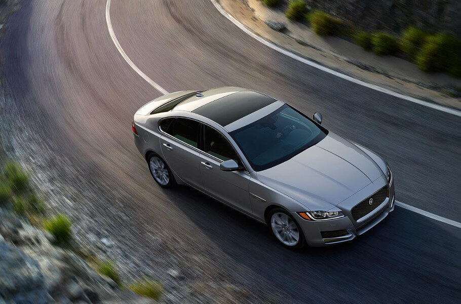 2017 Jaguar XF on road