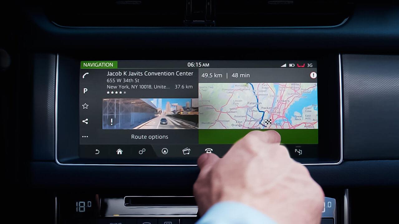Jaguar XF InControl Touch Screen