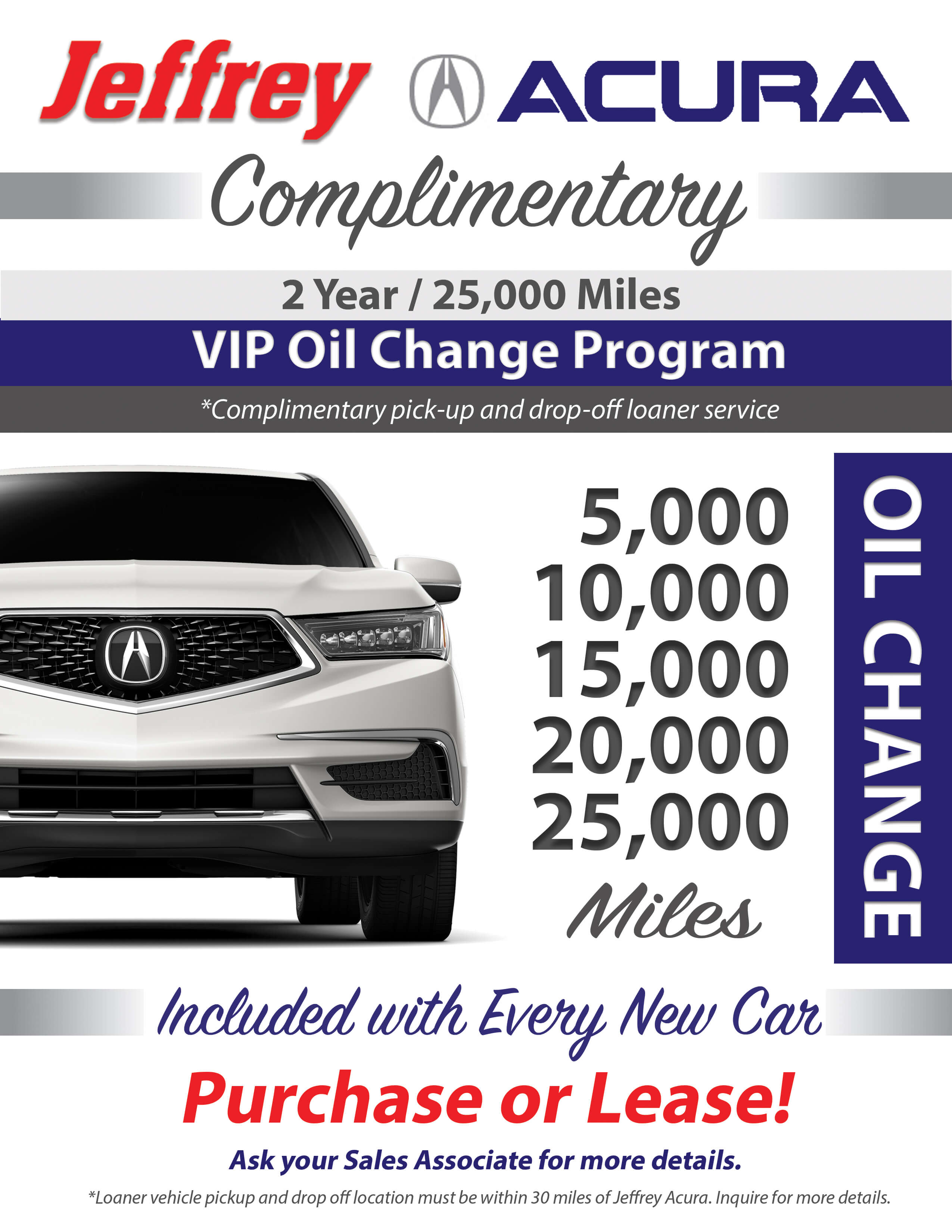 VIP Oil Change Flyer