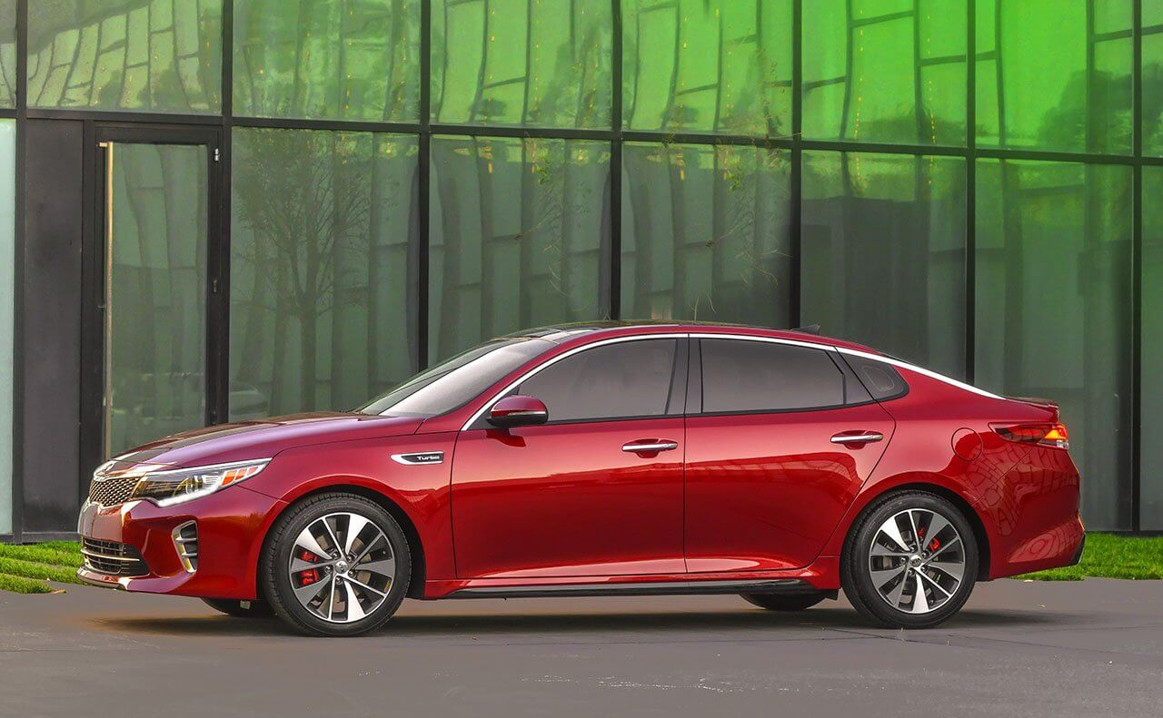 2016 Kia Optima red exterior model
