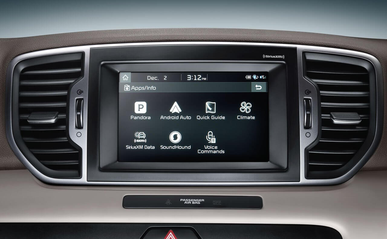2017 Kia Sportage interior features and amenities
