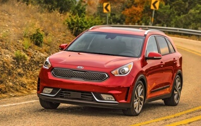 2017 Kia Niro Touring red exterior model