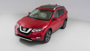 2017 Nissan Rogue Hybrid Red