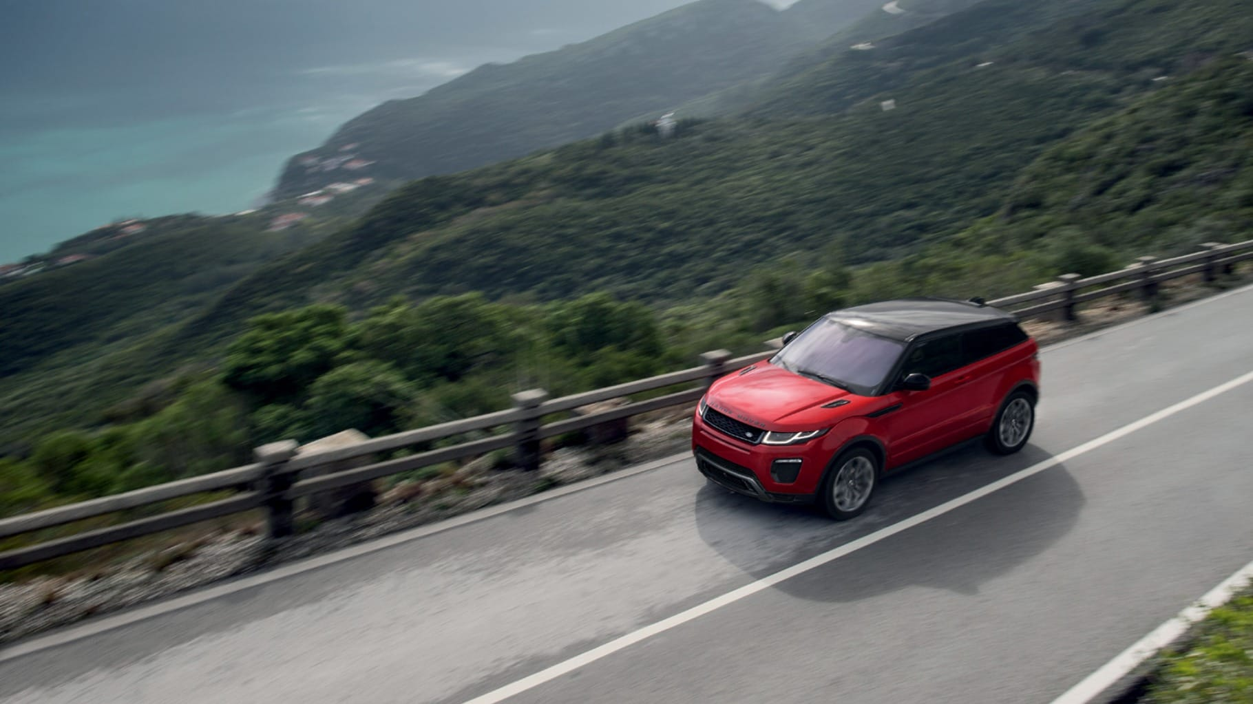 2016 Range Rover Evoque on road