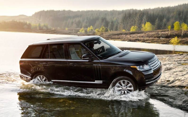 Attractive 2016 Range Rover Driving Safely Out Of Water