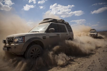 Land Rover Discovery off-roading on sand