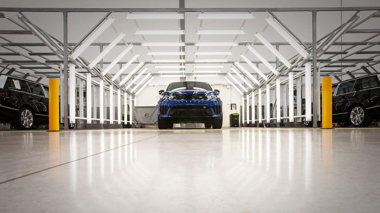 Range Rover Sport SVR in SVO Facility