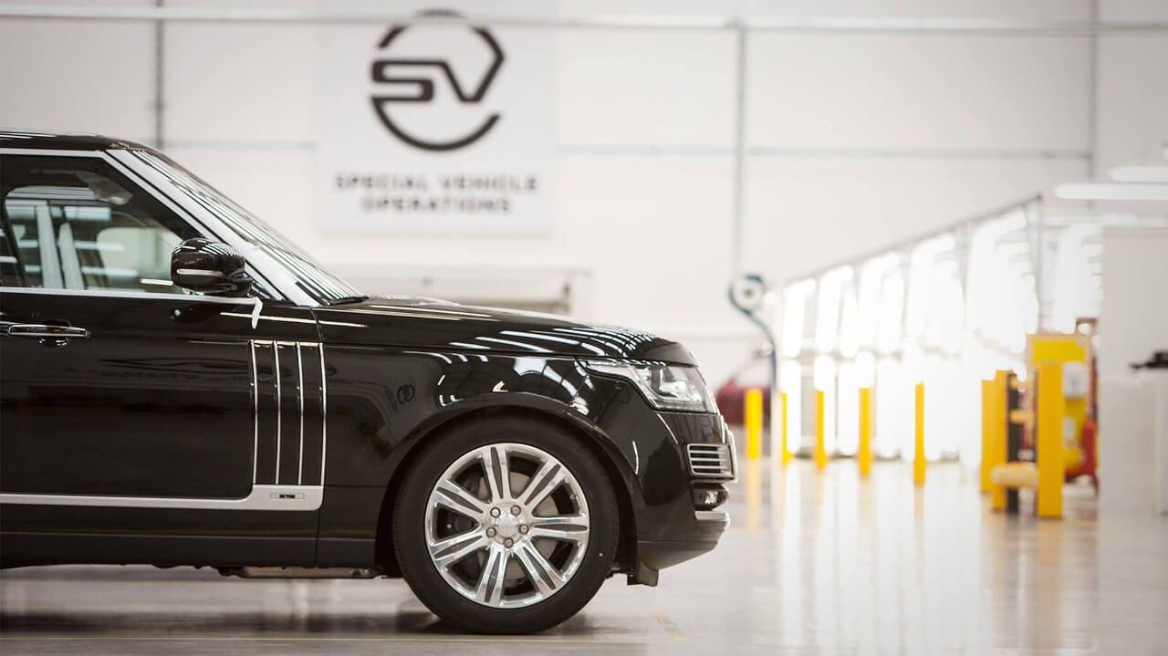 Range Rover in SVO Facility