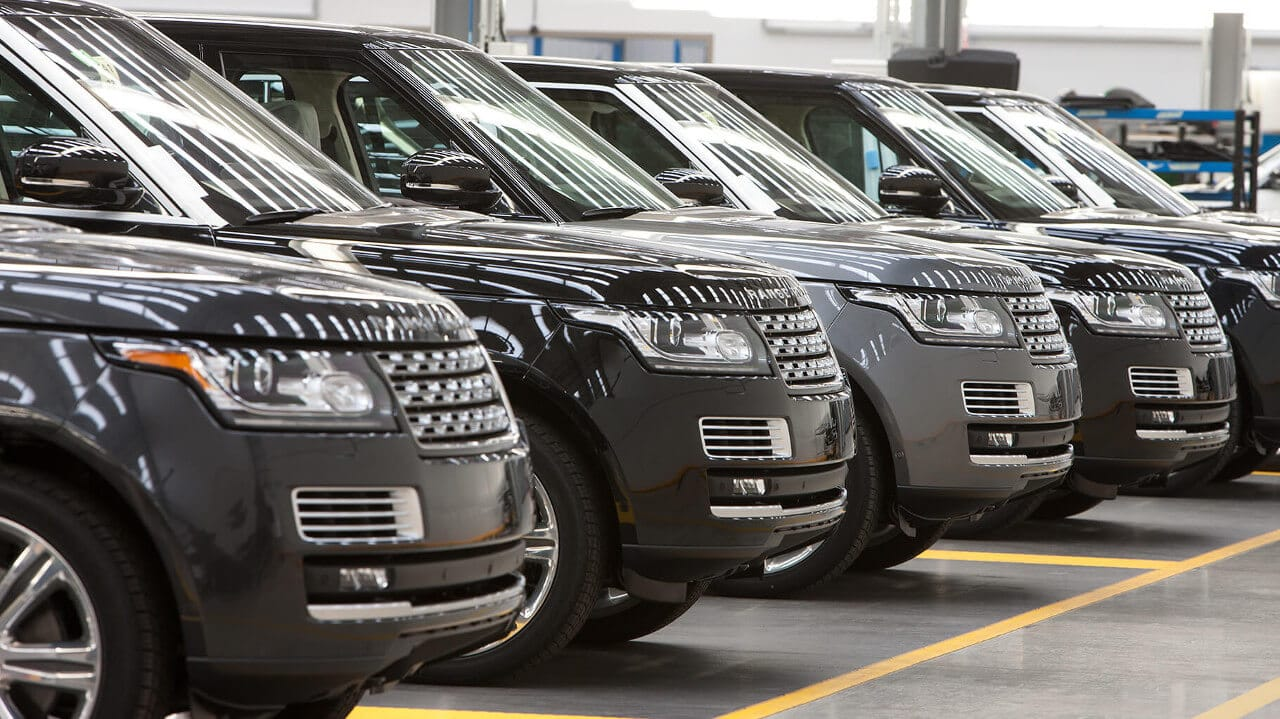 Range Rover lineup in SVO Facility