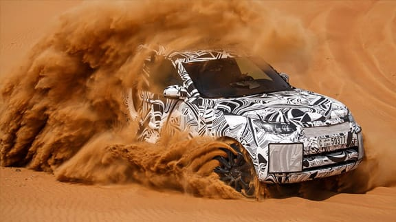 Land Rover Discovery in the sand