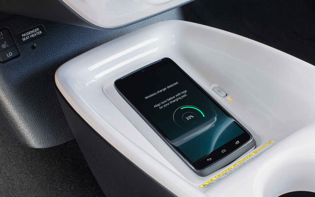 2016 Toyota Prius wireless charger