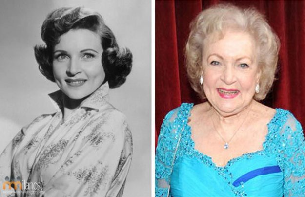 Betty White then & now